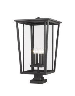 Lampe Piédestal Extérieure – Seoul – Z-Lite – 571PHXXLS-SQPM-BK