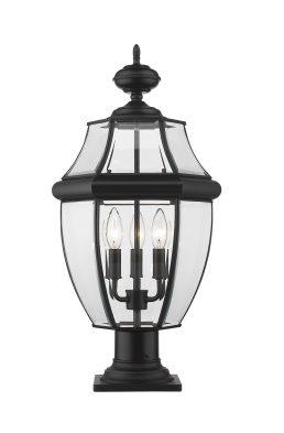 Lampe Piédestal Extérieure – Westover – Z-Lite – 580PHB-533PM-BK