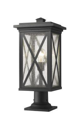 Lampe Piédestal Extérieure – Brookside – Z-Lite – 583PHBR-533PM-BK