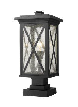 Lampe Piédestal Extérieure – Brookside – Z-Lite – 583PHBS-SQPM-BK
