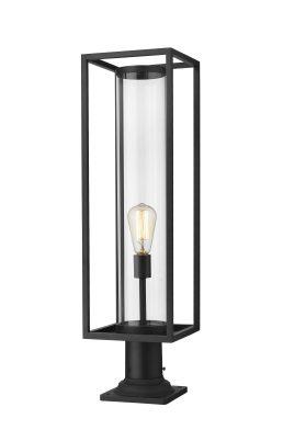 Lampe Piédestal Extérieure – Dunbroch – Z-Lite – 584PHBR-533PM-BK