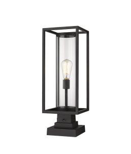 Lampe Piédestal Extérieure – Dunbroch – Z-Lite – 584PHMS-SQPM-BK