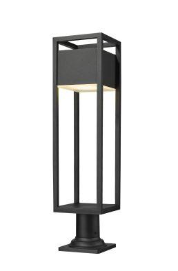 Lampe Piédestal Extérieure – Barwick – Z-Lite – 585PHBR-533PM-BK-LED