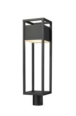 Tête De Poteau Extérieur – Barwick – Z-Lite – 585PHBR-BK-LED