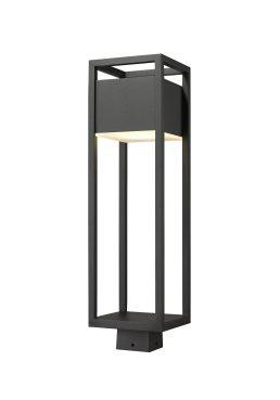 Tête De Poteau Extérieur – Barwick – Z-Lite – 585PHBS-BK-LED
