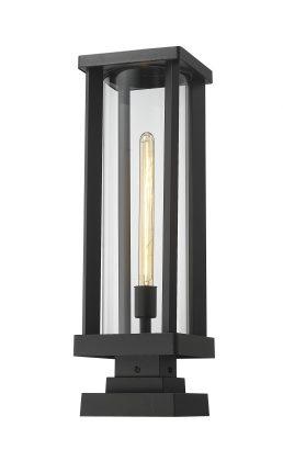 Lampe Piédestal Extérieure – Glenwood – Z-Lite – 586PHBS-SQPM-BK