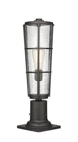 Lampe Piédestal Extérieure – Helix – Z-Lite – 591PHB-533PM-BK