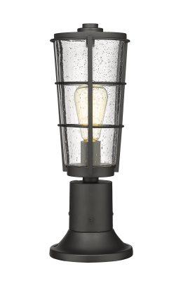 Lampe Piédestal Extérieure – Helix – Z-Lite – 591PHM-553PM-BK